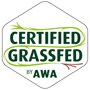 Certified Grassfed WORDS HEXAGON